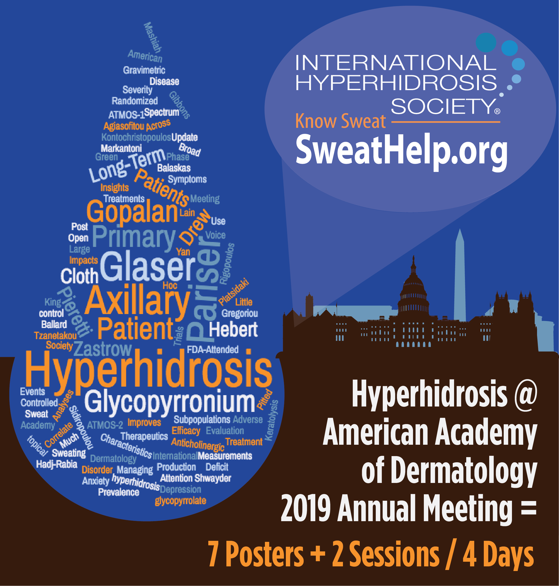 Hyperhidrosis @ AAD = 7 Posters + 2 Sessions / 4 Days
